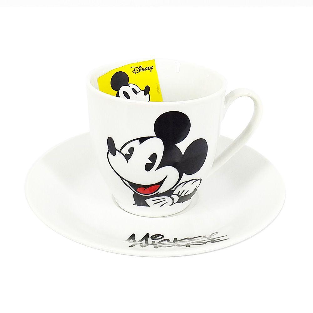Conjunto de 6 Xícaras de Chá (Grande) Mickey Mouse & Minnie Mouse: Disney