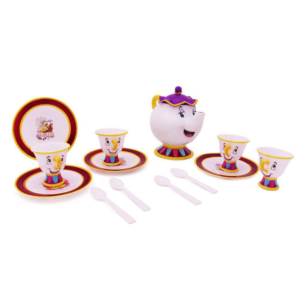 Conjunto de Chá Bela e a Fera: Disney Princesas (14 Peças) - Toyng