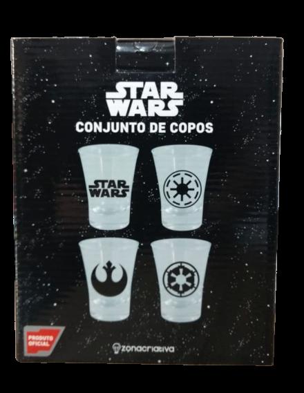 Conjunto de Copos Star Wars (Set 4 Peças) - Zona Criativa