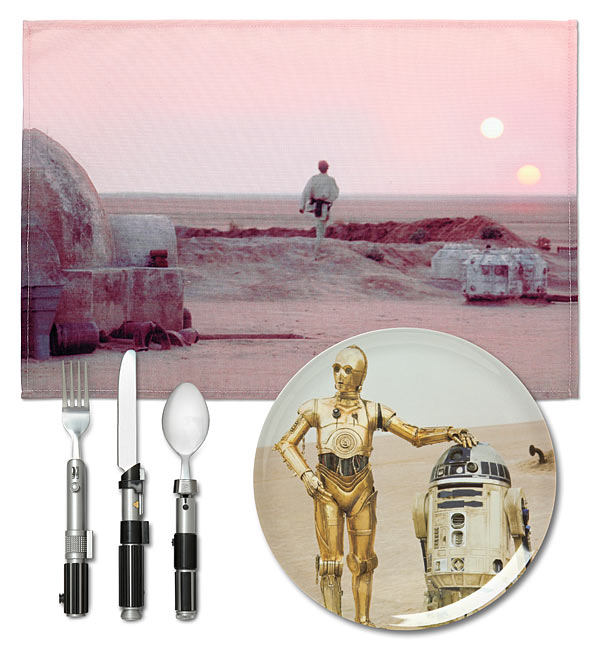Conjunto de Jantar Star Wars: Tatooine - ( C-3PO )Prato e Talher