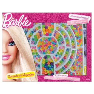 Conjunto de Miçangas: Barbie - Mattel