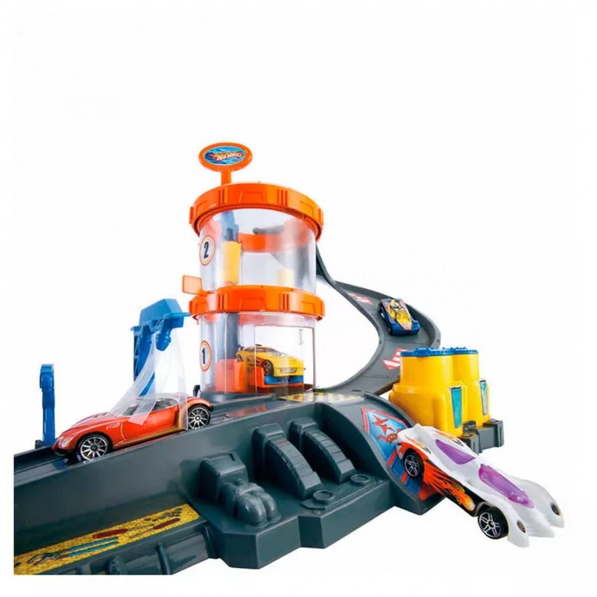 Conjunto de Pistas Hot Wheels Super Lava-Rápido com Veículo