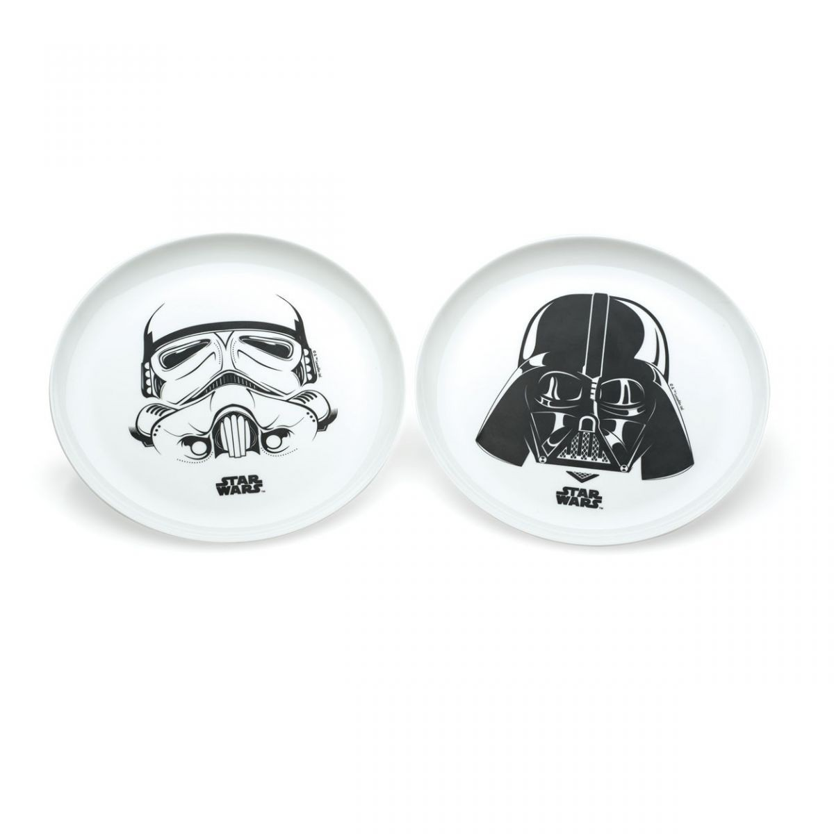Conjunto de Pratos Darth Vader e Stormtrooper: Star Wars Branco