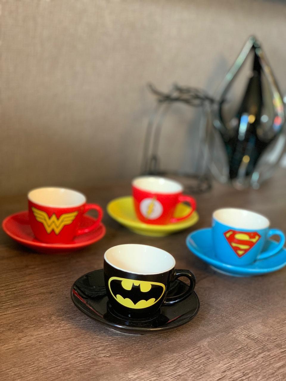 Kit Café de Xicaras Logo Heróis: DC Comics Liga da Justiça - URBAN