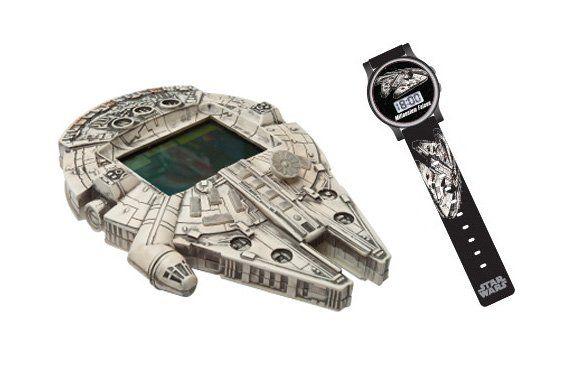 Conjunto Space Game (Minigame Milenium Falcon e Relógio): Star Wars - Candide