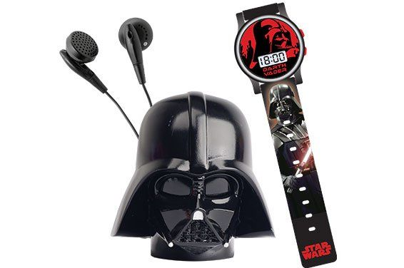 Conjunto Space Set (Relógio e Rádio FM Darth Vader): Star Wars - Candide