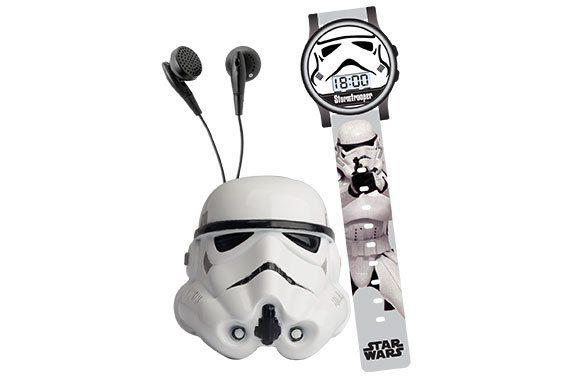 Conjunto Space Set (Relógio e Rádio FM Stormtrooper): Star Wars - Candide