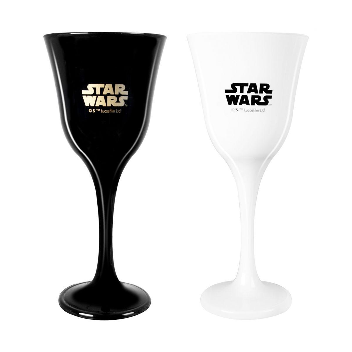 Conjunto de Taças: Star Wars Preto e Branco
