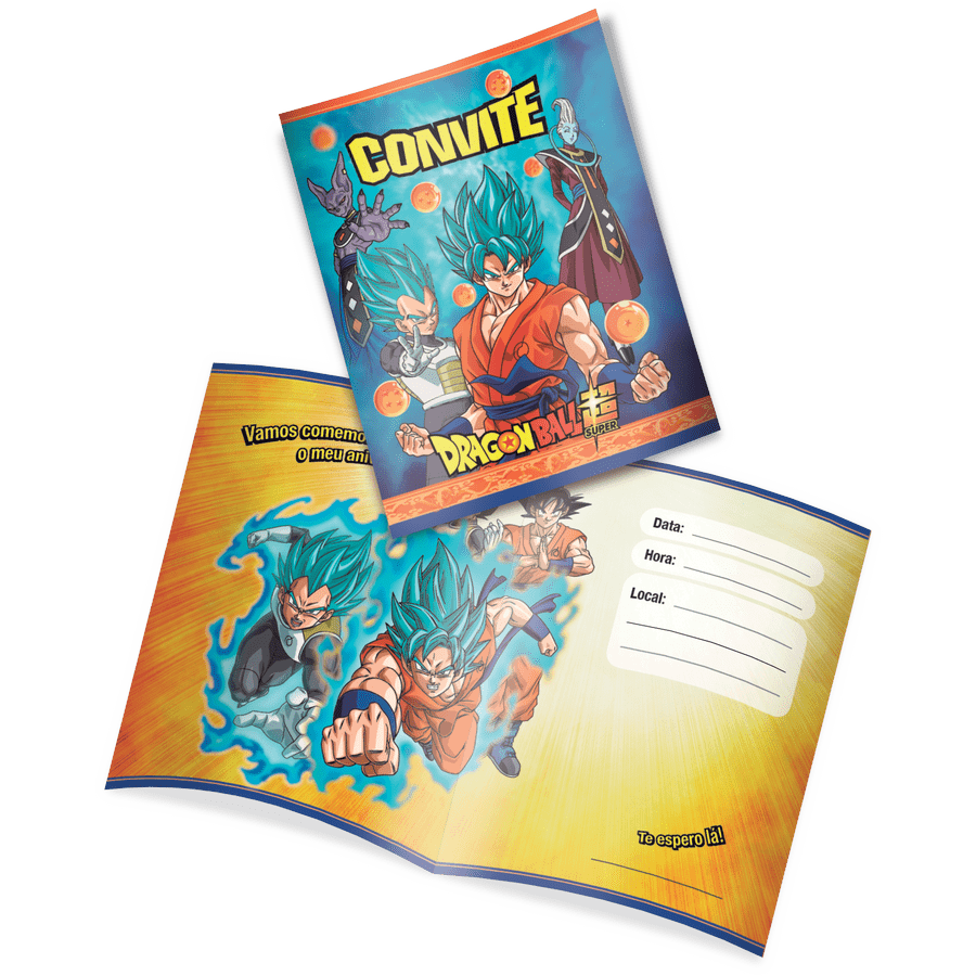Convite: Dragon Ball - Festcolor
