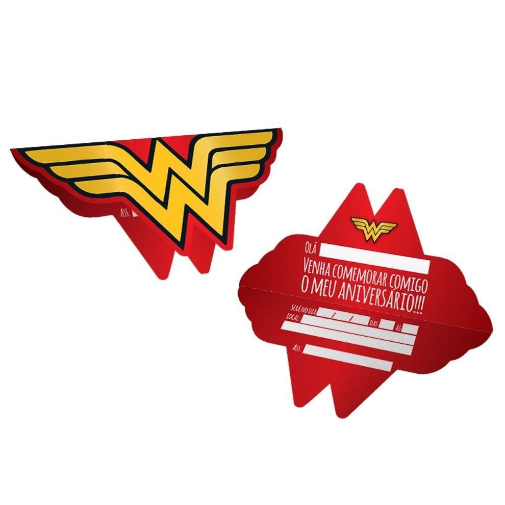 Convite Wonder Woman (Mulher Maravilha) - Festcolor