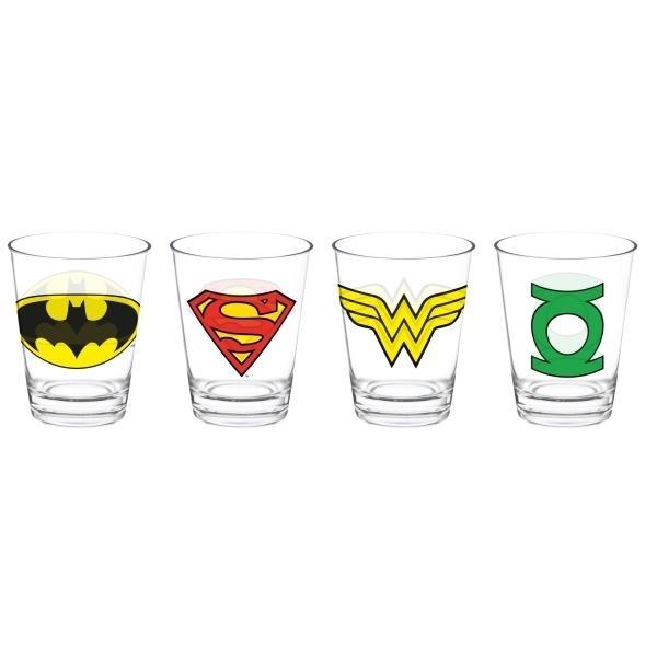 Copo Caldereta DC Logos Heroes (Set de 4 Peças) - Urban