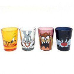 Copo Caldereta Looney Tunes Coloridos (Set de 4 Peças)