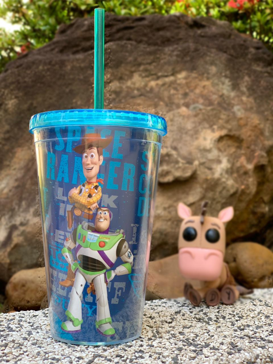 Copo Canudo Buzz e Woody: Toy Story (450ml) - Disney