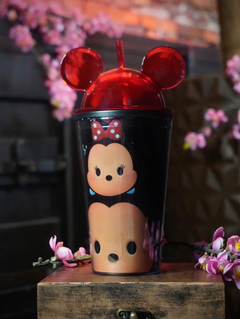 Copo Canudo com Orelha Mickey e Minnie Tsum Tsum  - Disney - 450ml