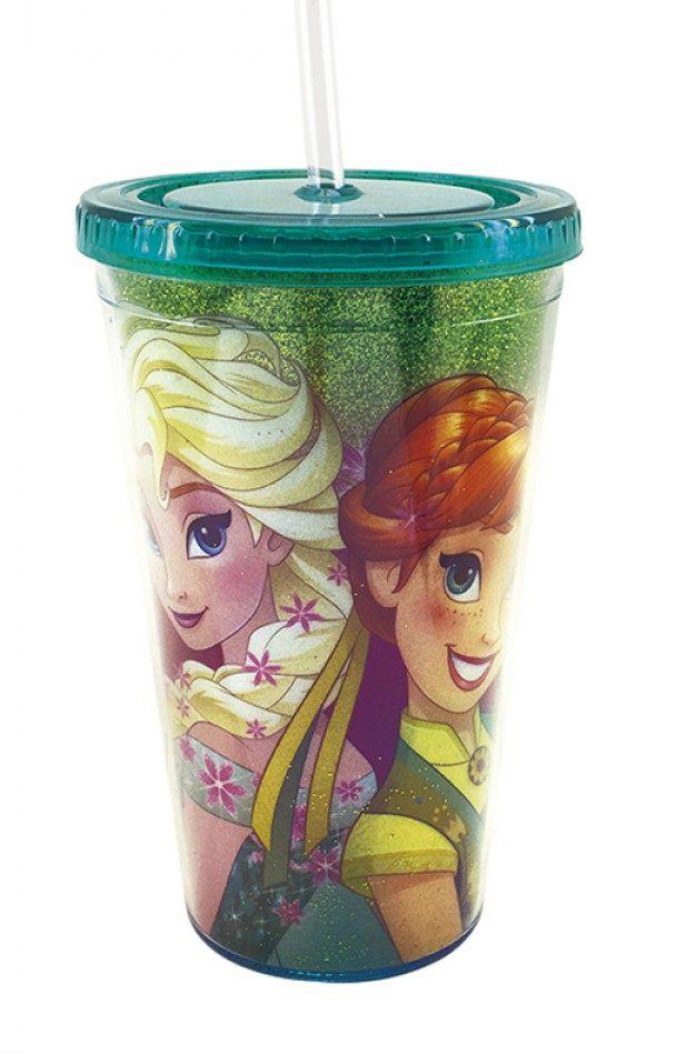 Copo Canudo Elsa & Anna: Frozen - Disney