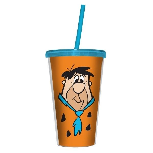 Copo com Canudo Fred: Os Flintstones (500ml)