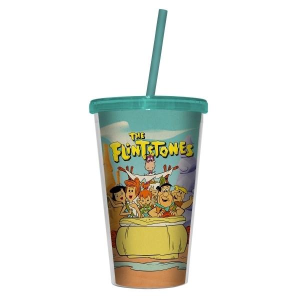 Copo Canudo Hb Flintstones Family in a Car - Urban