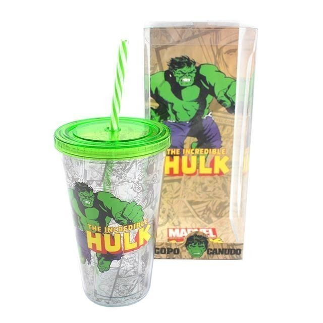 Copo Canudo Hulk - Zona Criativa