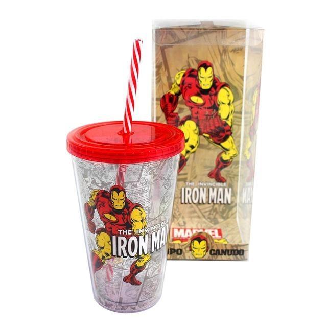 Copo Canudo Iron Man - Zona Criativa