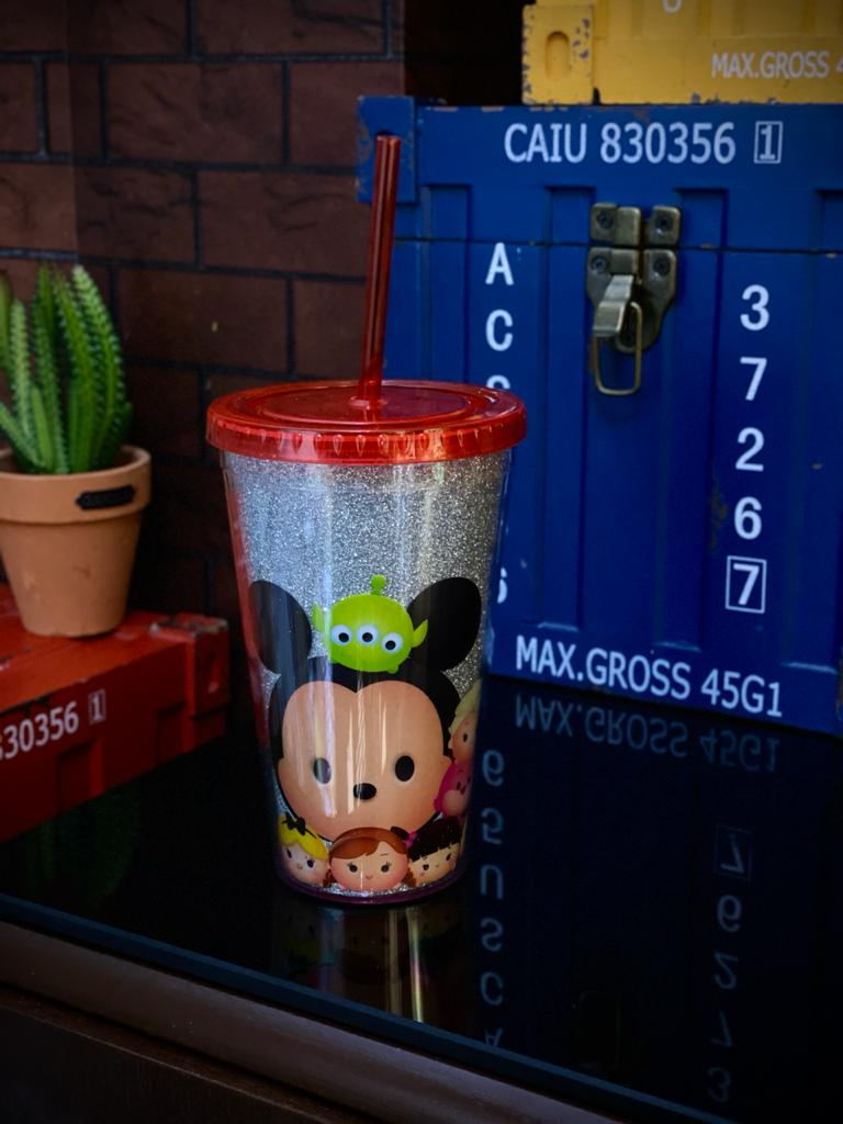 Copo Canudo Mickey E Minnie (Tsum Tsum) - Disney