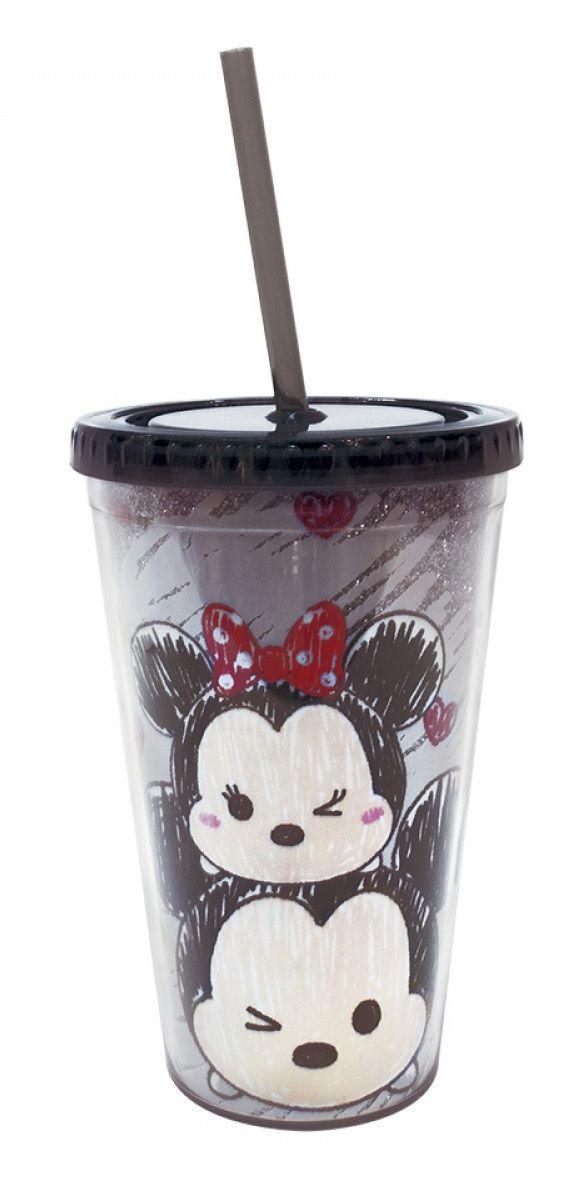 Copo Canudo Minnie & Mickey (Tsum Tsum) 450ml - Disney