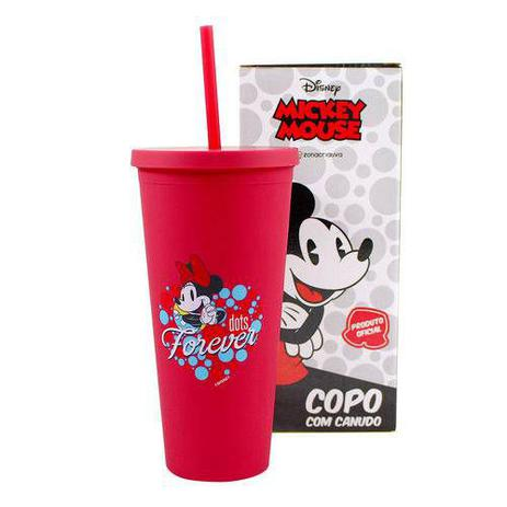 Copo Canudo Minnie ''Forever Dots'' - Disney 650ml