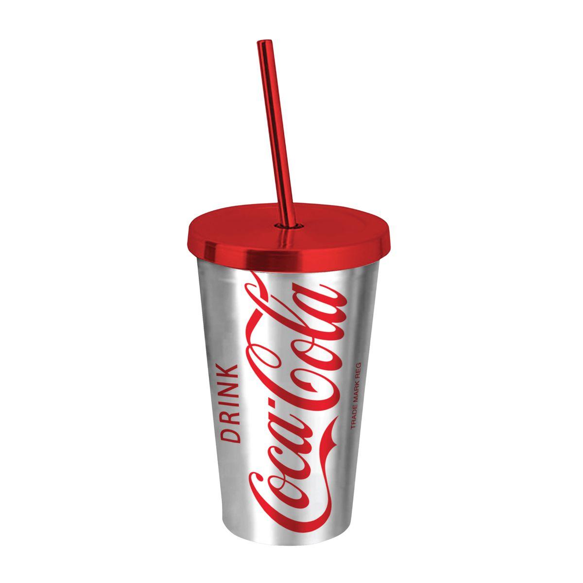 Copo Canudo Prata: Chrome Logo Prata: Cola-Cola - Urban