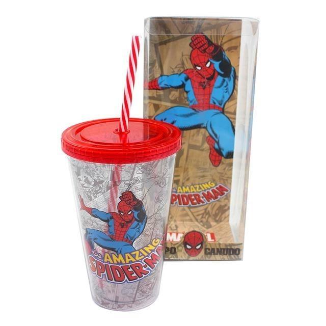 Copo Canudo Spider Man - Zona Criativa