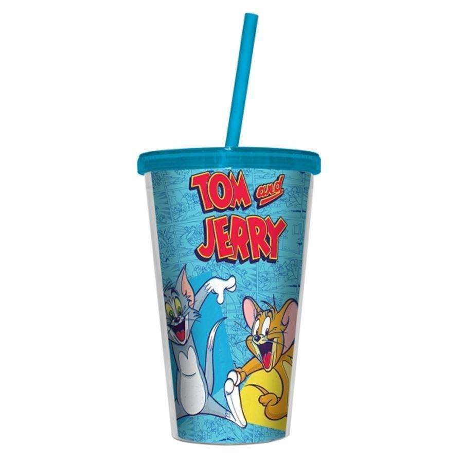 Copo Canudo Tom e Jerry Happy Guys - Urban