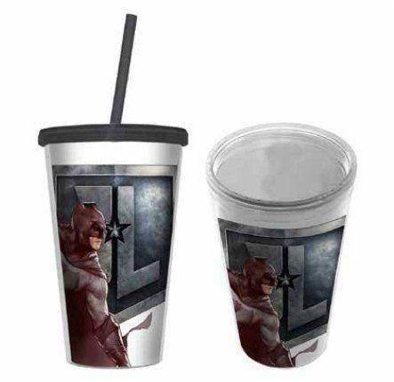 Copo com Canudo Batman: Liga da Justiça (Justice League) - 500ML