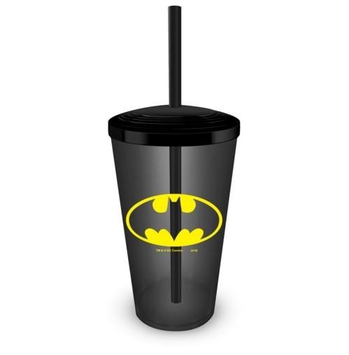 Copo com Canudo Batman Logo - BandUP!