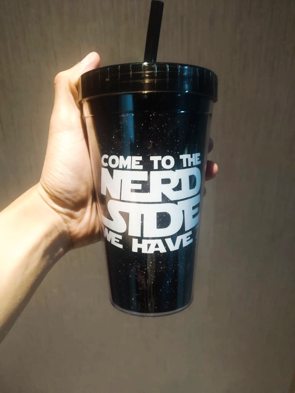 Copo Com Canudo: ''Come To The Nerd Side We Have'' (Star Wars) - 450ml
