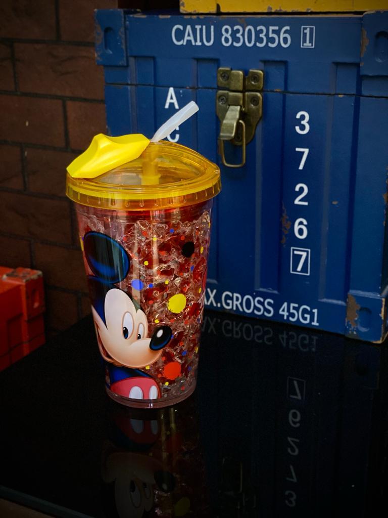 Copo Com Canudo Congelável Mickey Mouse: Disney 450ml