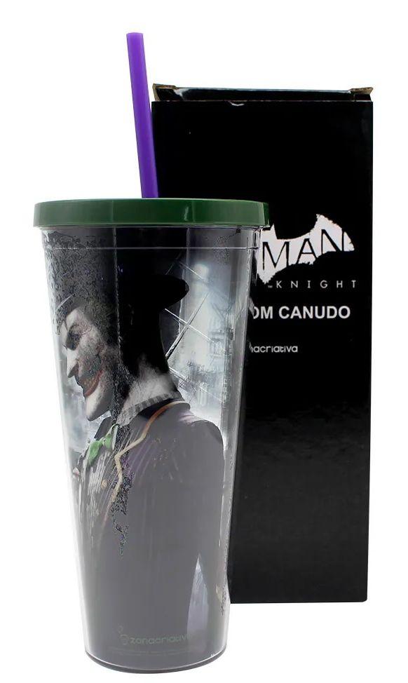 Copo com Canudo Coringa: Batman Arkham Knight - (650ML)