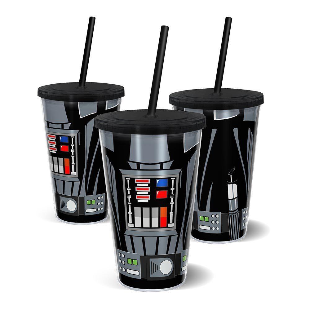 Copo com Canudo Darth Vader: Star Wars