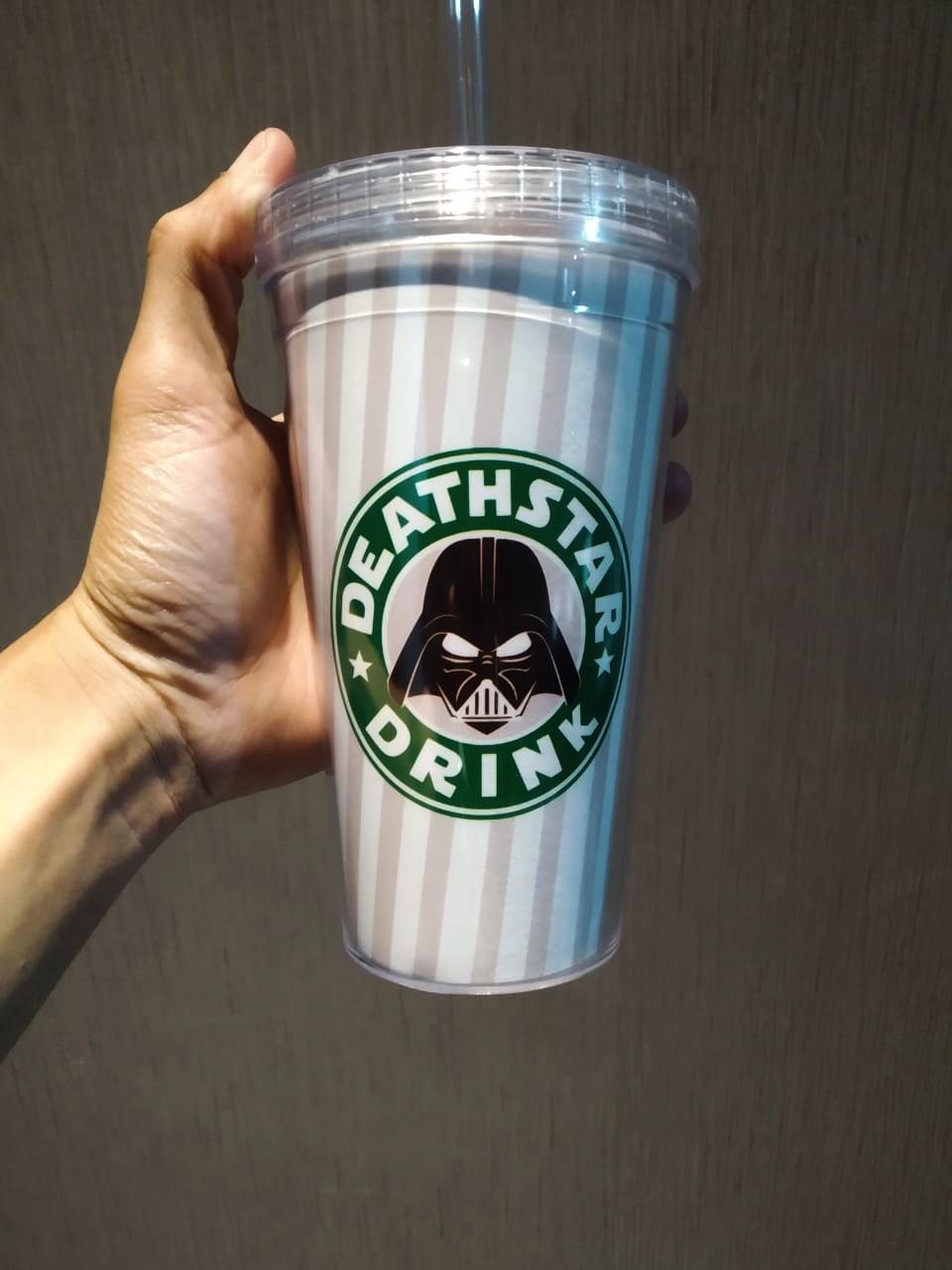 Copo Com Canudo: Deathstar Drink (Star Wars) - 450ml