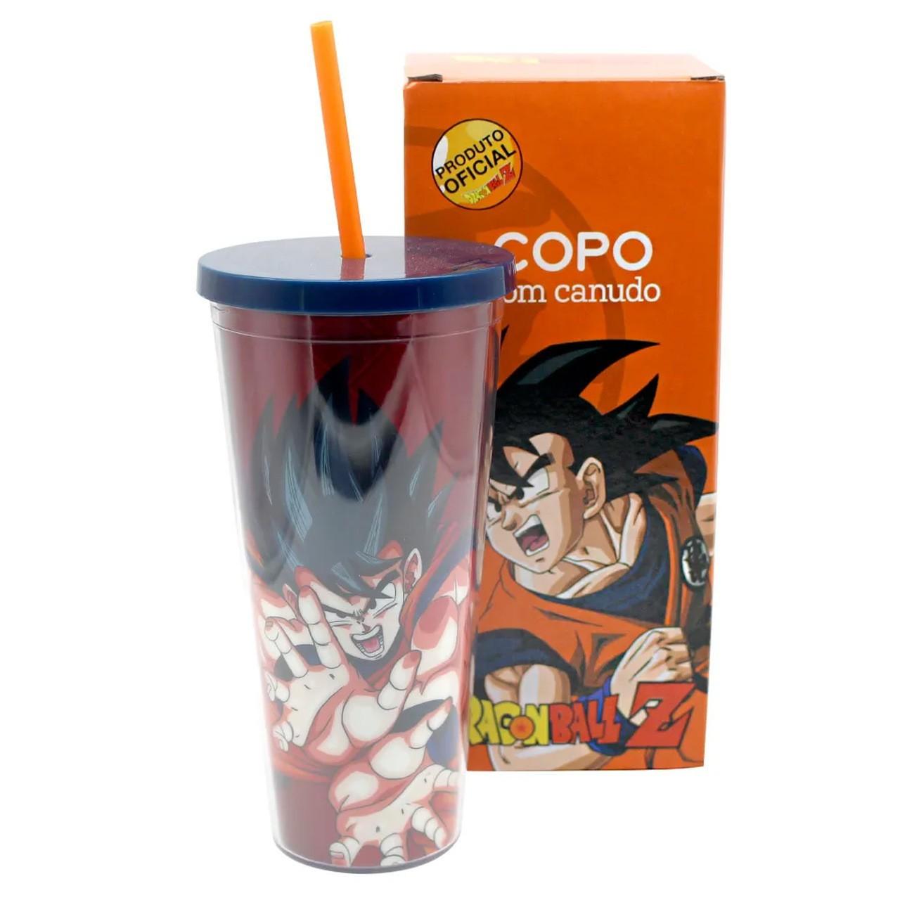 Copo com Canudo e Tampa Goku: Dragon Ball (650ml)