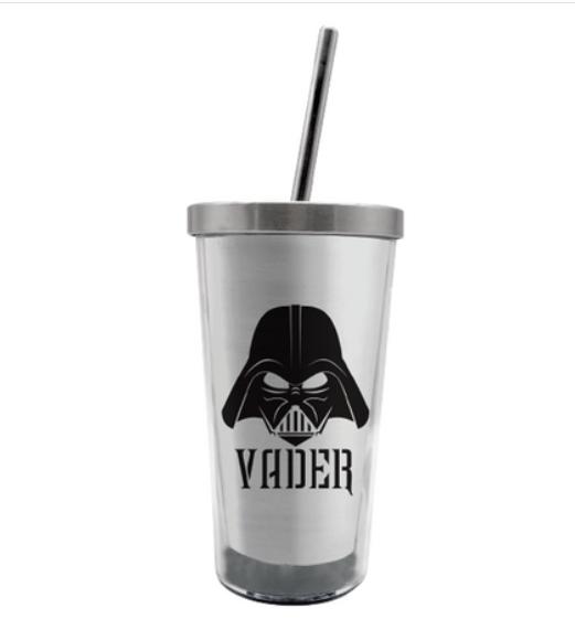 Copo com Canudo (Ecológico) Darth Vader: Star Wars - 450ML