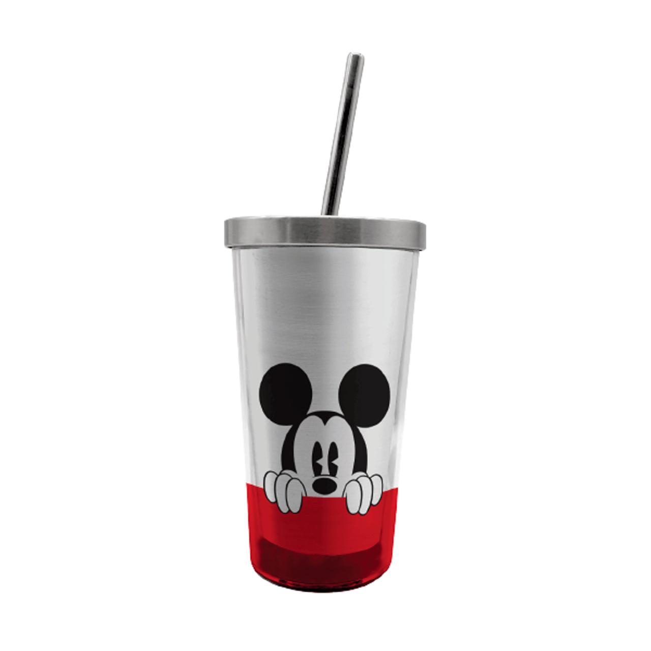 Copo com Canudo (Ecológico) Mickey: Disney - 450ML