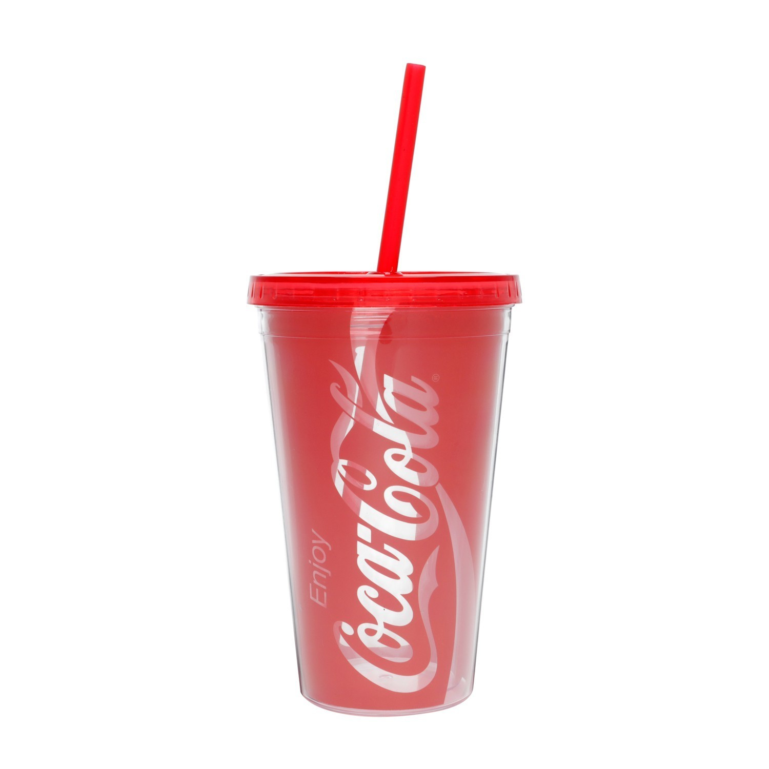 Copo com Canudo Enjoy Coca-Cola (500ml) - Urban