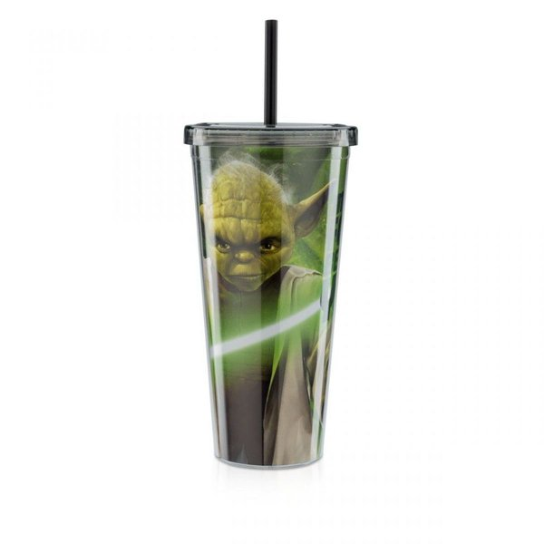 Copo com Canudo G Yoda: Star Wars Força
