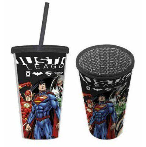 Copo com Canudo Justice League - 500ML