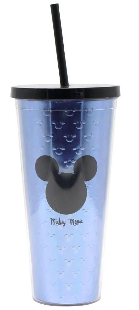 Copo com Canudo Logo Mickey Mouse: Disney - (650ML)