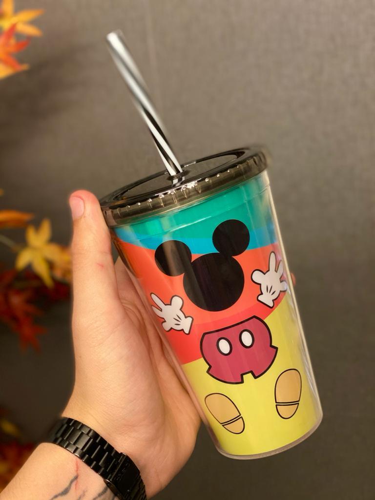 Copo com Canudo Mickey (Aniversário 90 Anos) - Disney