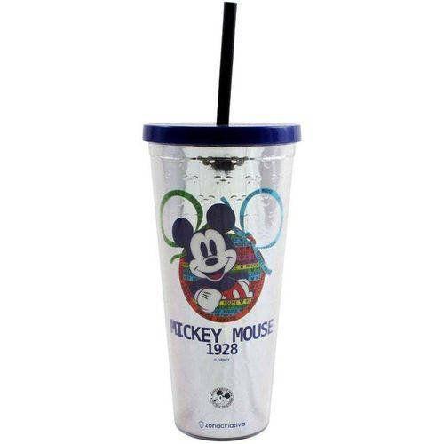 Copo com Canudo Mickey Mouse (90 Anos): Disney - (650ML)