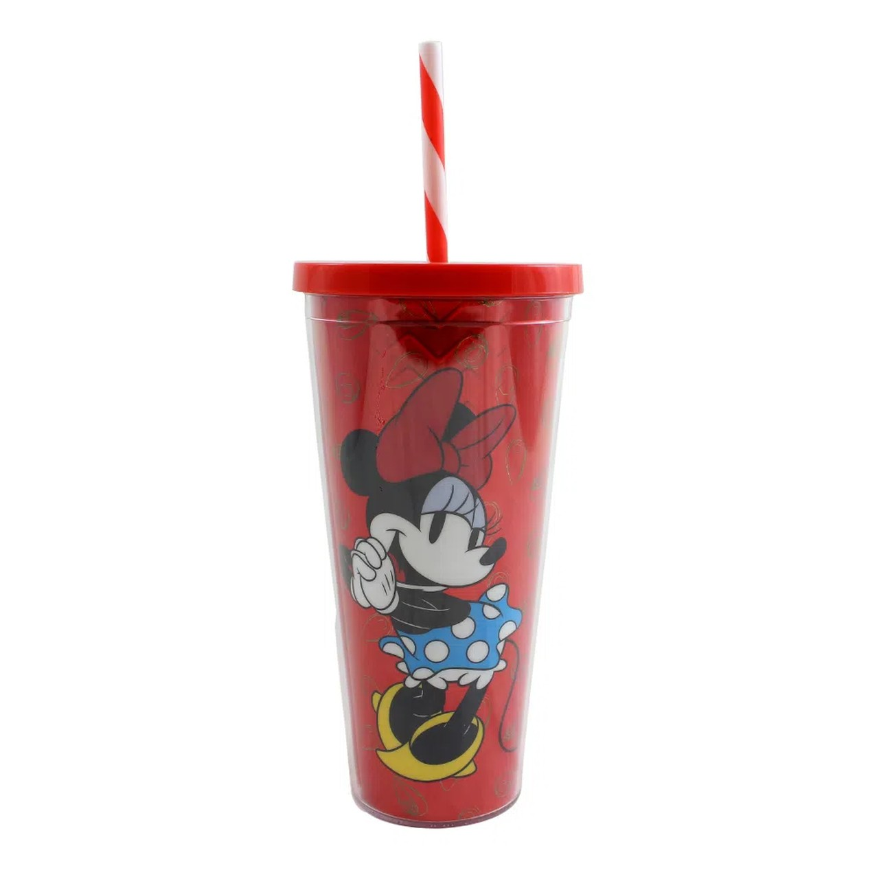 Copo com Canudo Minnie Mouse: Disney 650ml - Zona Criativa