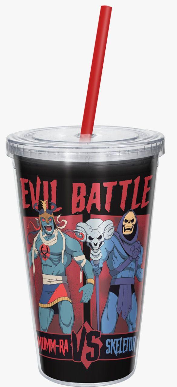 Copo com Canudo Mumm-Ra Vs Skeletor: Evil Battle - 600ML