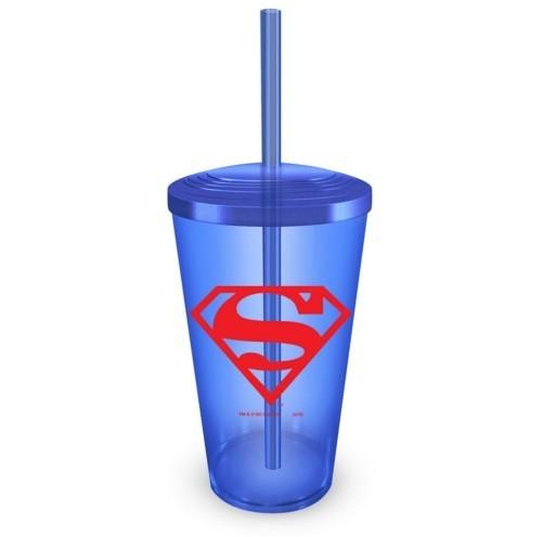Copo com Canudo Superman Logo - BandUP!