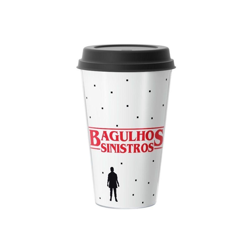 Copo de Café Bagulhos Sinistros Stranger Things 500 ml Branco - EV