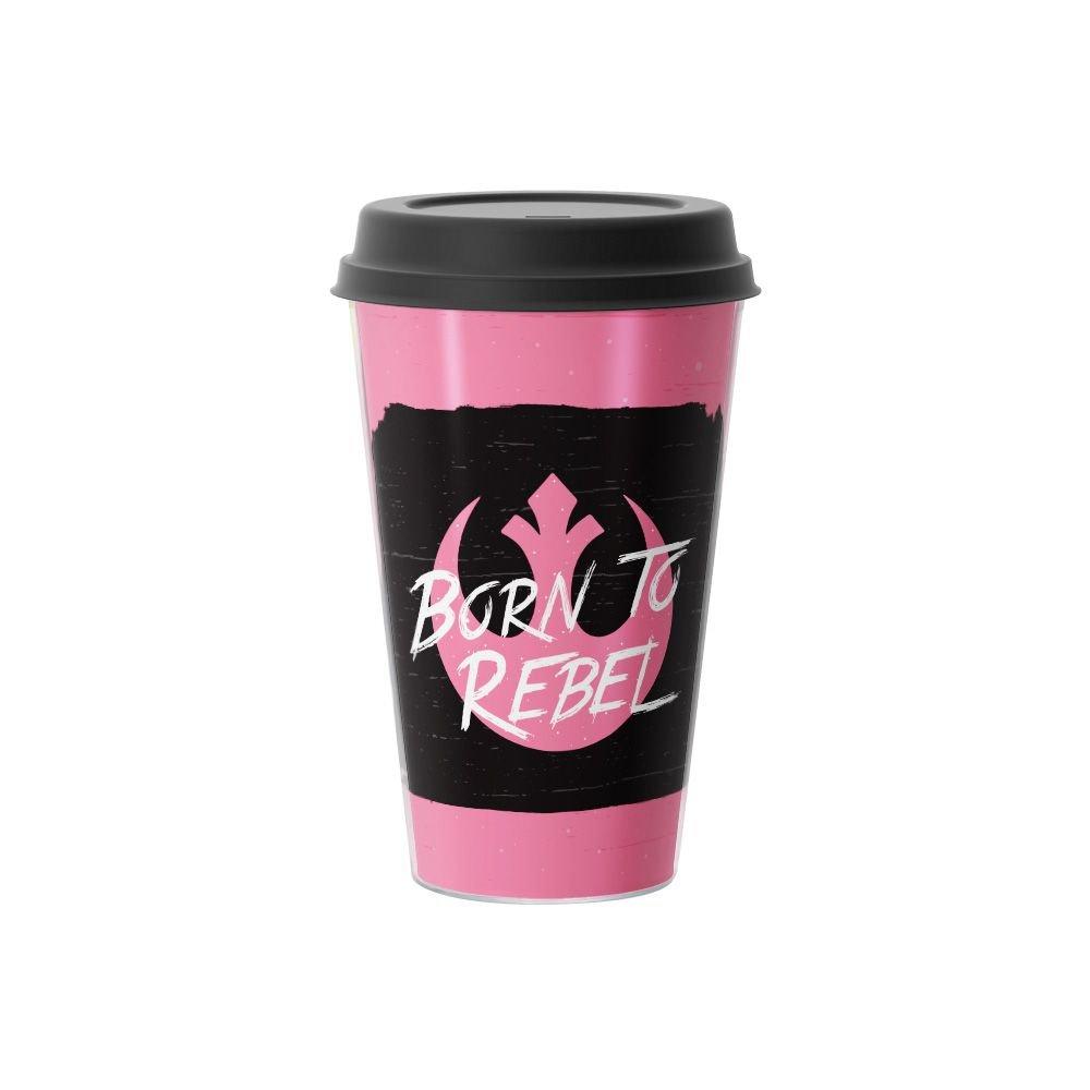 Copo de Café Born To Rebel Star Wars 500 ml Rosa - EV